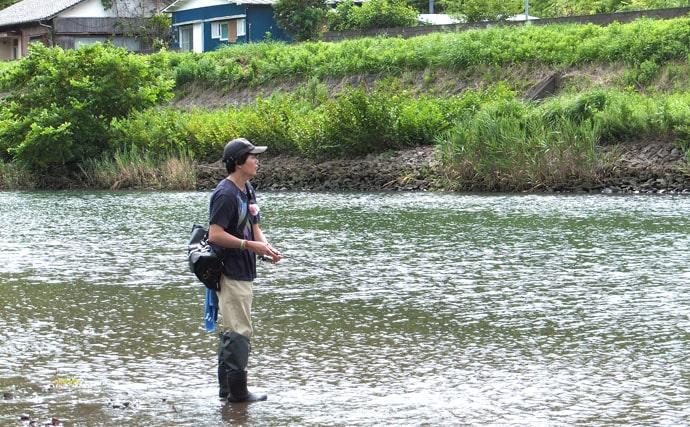 エサで狙うハゼ釣り リアクションで食わせて15cm頭50匹【青野川】