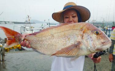 【福岡県】ジギング&タイラバ釣果速報 5㎏級マダイに指6本タチウオ