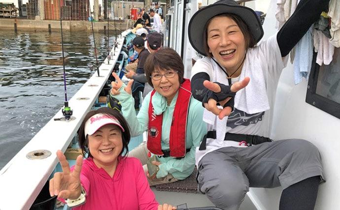 船キス釣りで10目達成 トップは本命200匹超え!【愛知・まとばや丸】