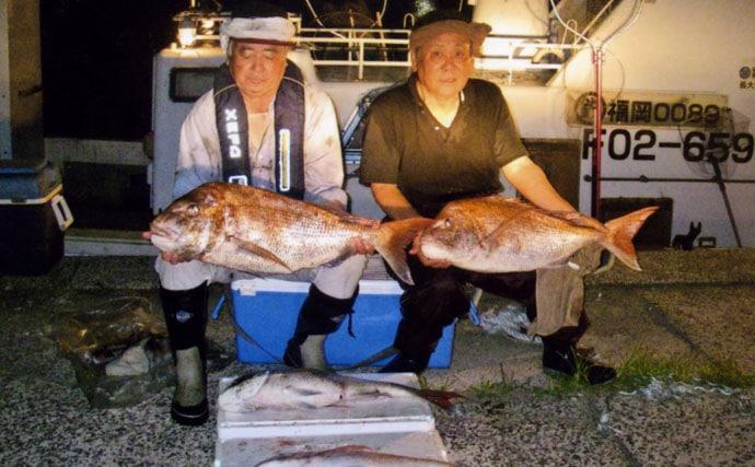 【九州エリア】マダイ釣果速報 タイラバ・テンヤ・落とし込み・イカ流し