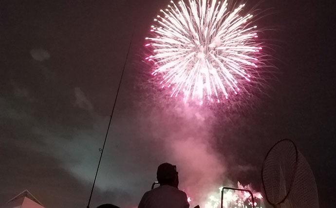 夜メバル&カサゴ船釣行レポ 八景島シーパラダイスの花火も満喫【進丸】
