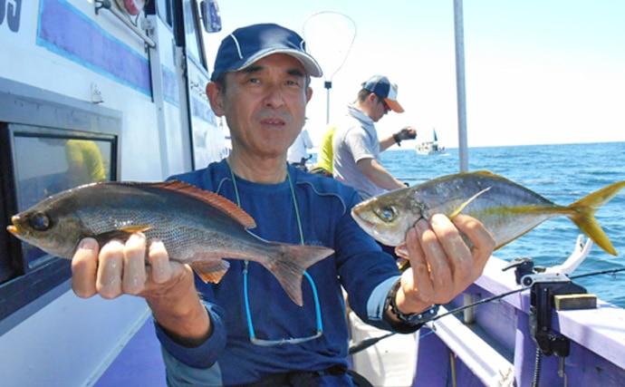 イサキ&シマアジ『リレー船』実釣取材レポート【千葉県・春栄丸】