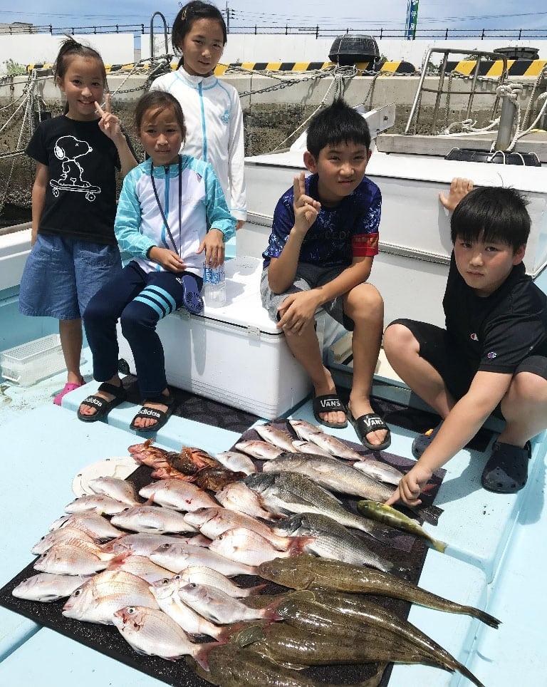 【福岡県】沖のエサ釣り釣果速報 五目でアマダイにテンヤでマダイ他