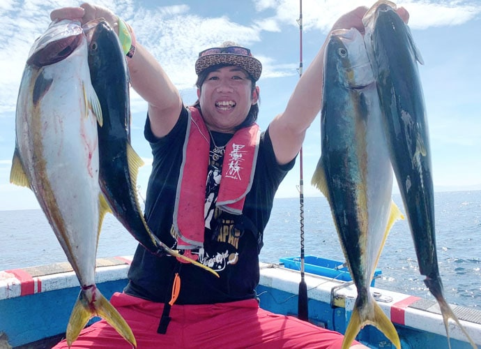 玄達瀬での完全フカセ釣りで止まらぬヒット ヒラマサ28尾【福井県】