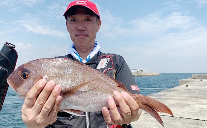 一文字フカセ釣りで30cm超頭に17匹キープ【兵庫県・垂水一文字】