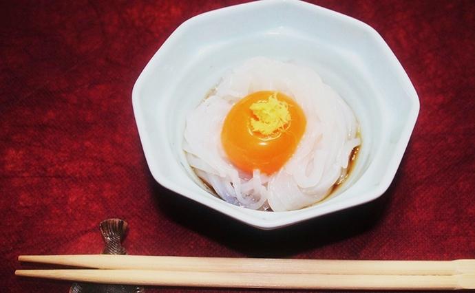 【釣果レシピ】漁師さん直伝の『イカ卵黄』 捌き方や皮の引き方も解説