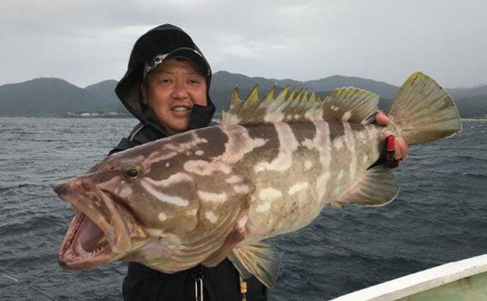 イカメタル船で幻の魚『クエ』登場 本命釣行かすむ釣果に【京都府】