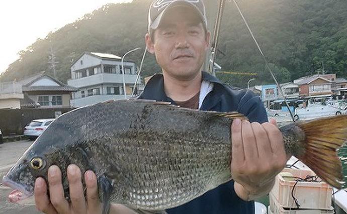 【三重県】イカダ&カセ釣果速報 60cmクロダイに五目釣りも好調!
