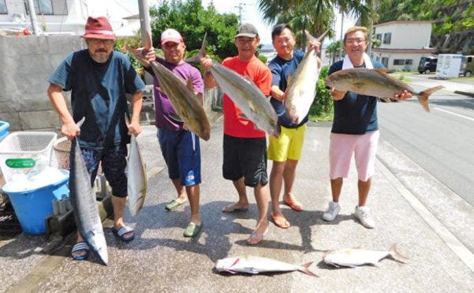 実はアクセス良好『八丈島』遠征釣行のススメ 泳がせカンパチ全員安打!