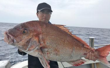 【福岡】タイラバ&SLJ釣果速報 80cm超えマダイに大型青物も!