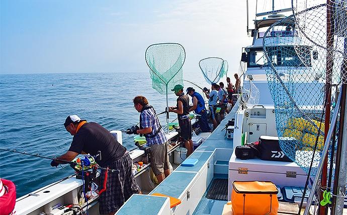 相模湾マグロカツオ船で5.1kg頭に良型ホンガツオ続々【洋征丸 】