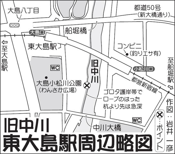 東京23区内でハゼ狙いの電車釣行 12cm頭に35尾!【旧中川】