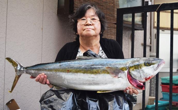 【響灘】落とし込み釣果速報 104cmヒラマサに8.5㎏マダイ!
