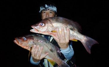 夜磯でのカゴ釣りで50cmシブダイ サオ1本のタナでヒット【鹿児島】