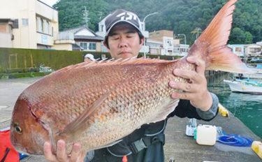【三重県】イカダ&カセ釣果速報 80㎝マダイにクロダイ&アオリイカも