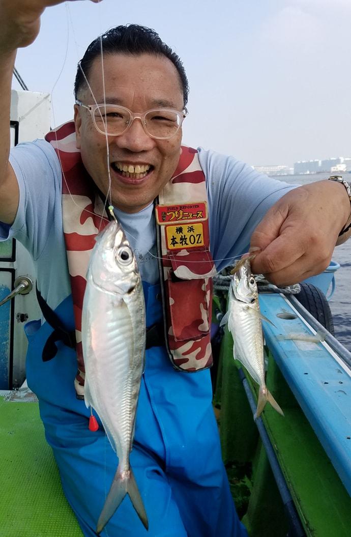 LTアジで船中トップ71尾 27cm頭に入れ食いタイムも【黒川本家】