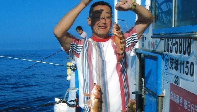 オキメバル船で多点掛け連発 食い渋りでもトップ21尾!【弁天丸】