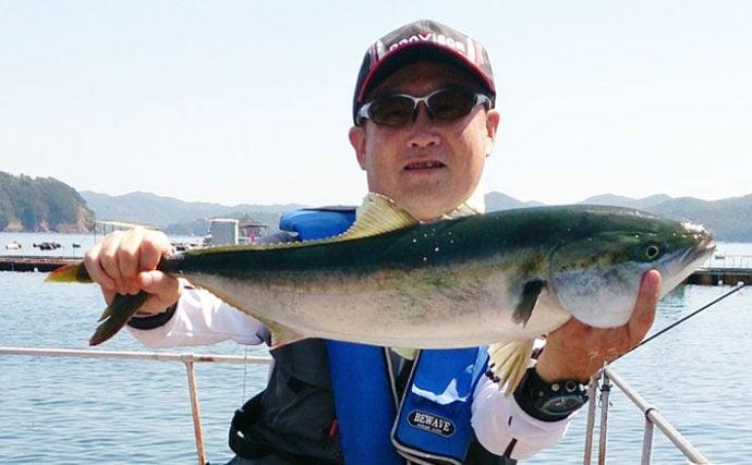 五ケ所湾の海上釣り堀で『青物コール』連発 ワラサにシマアジにマダイ