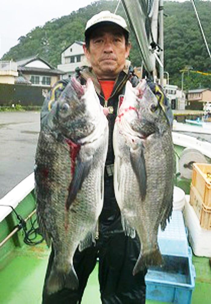 【三重県】イカダ&カセ最新釣果 53.5cmクロダイに秋アオリ好調