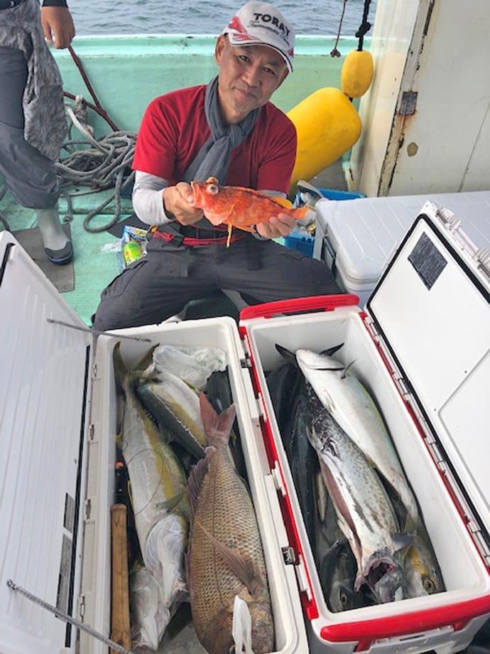 【玄界灘】落とし込み釣果速報 大型ヒラマサ&マダイでクーラー満タン