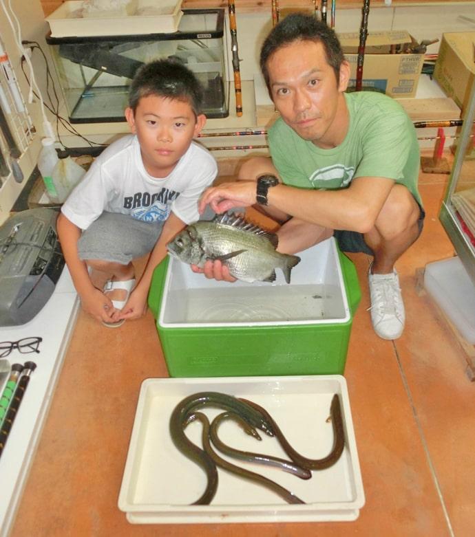 越冬ウナギ狙いのぶっこみ釣りで68cm頭に本命3尾【木曽川】