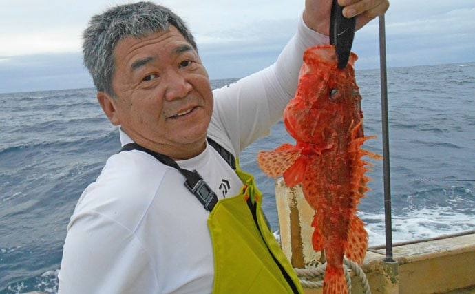 外房オニカサゴ釣りで1.5kg級頭にキロ超え連発【第2二三丸】