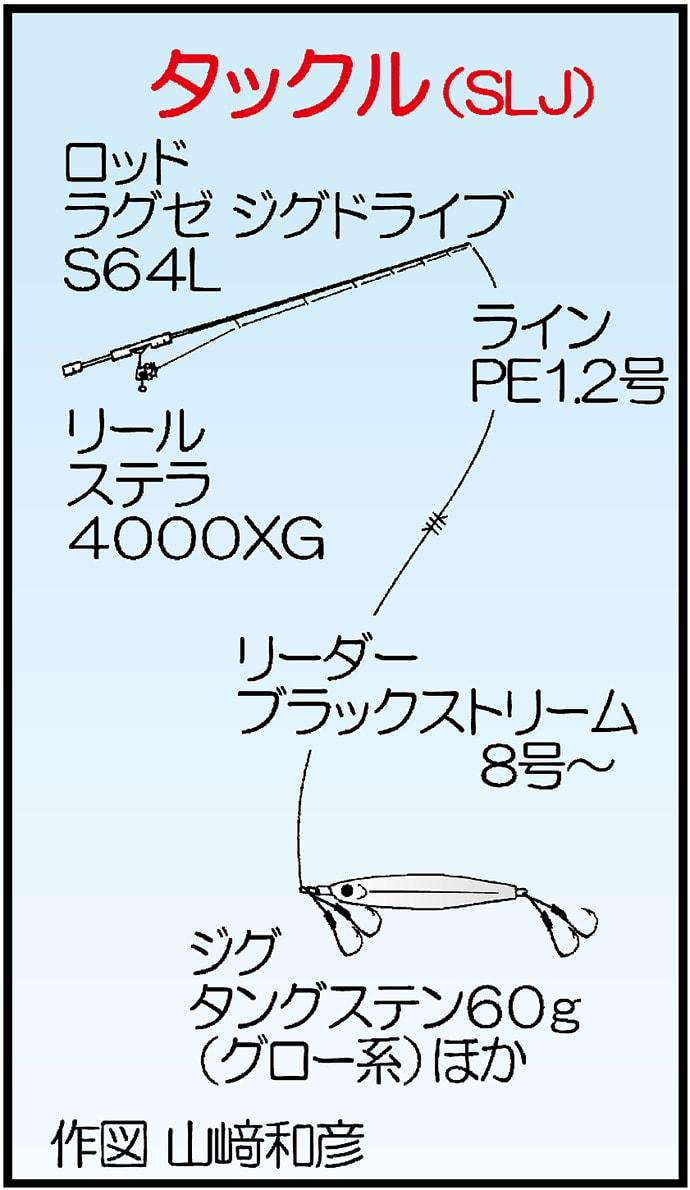 SLJでメーター超えヒラマサ 15kg超えのマグロもヒット?【福岡】