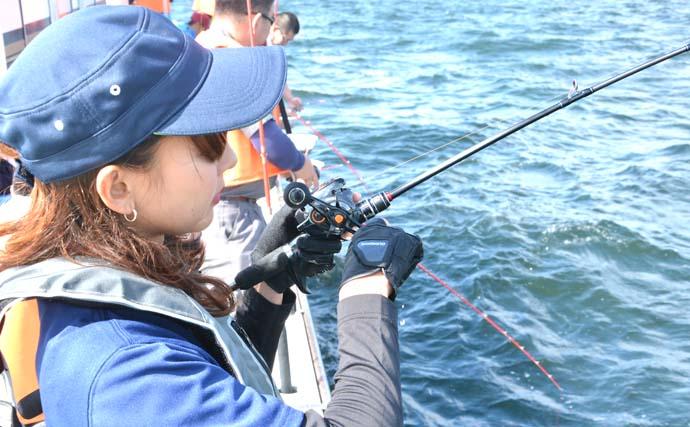 阪本智子が東京湾LTアジ船で入れ食い堪能 30cm頭に本命50尾!