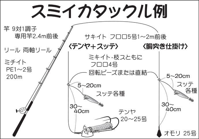 【2019東京湾】スミイカ狙い『シャコテンヤ釣り』初心者入門解説