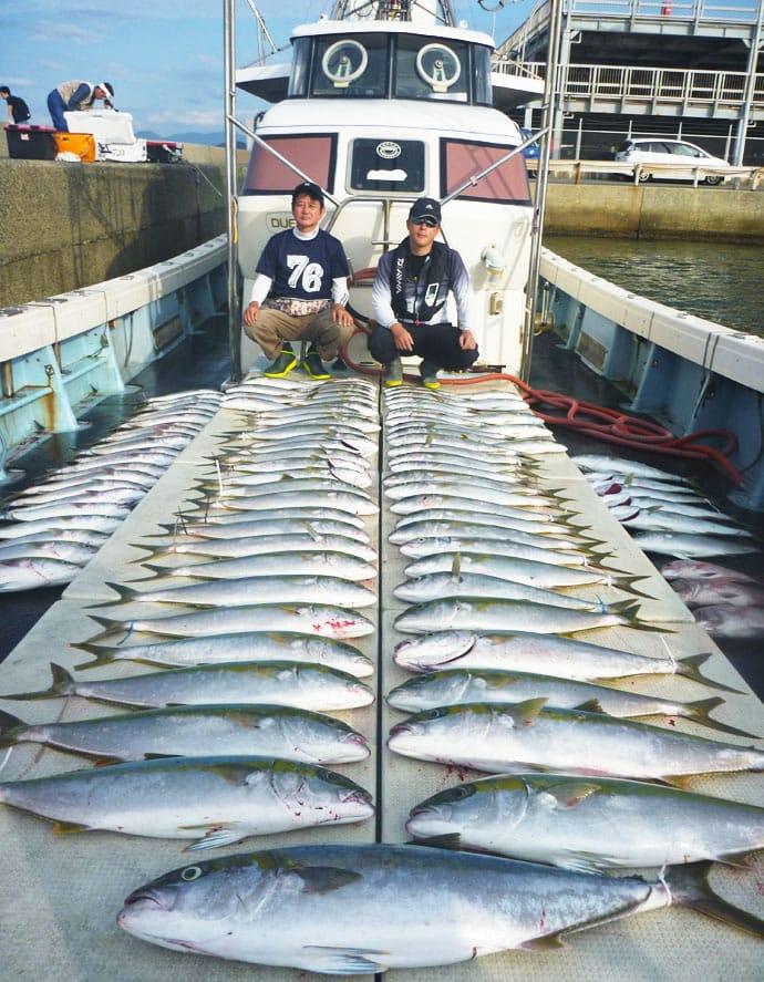 【玄界灘】落とし込み釣り釣果速報 青物船中合計110匹と絶好調!