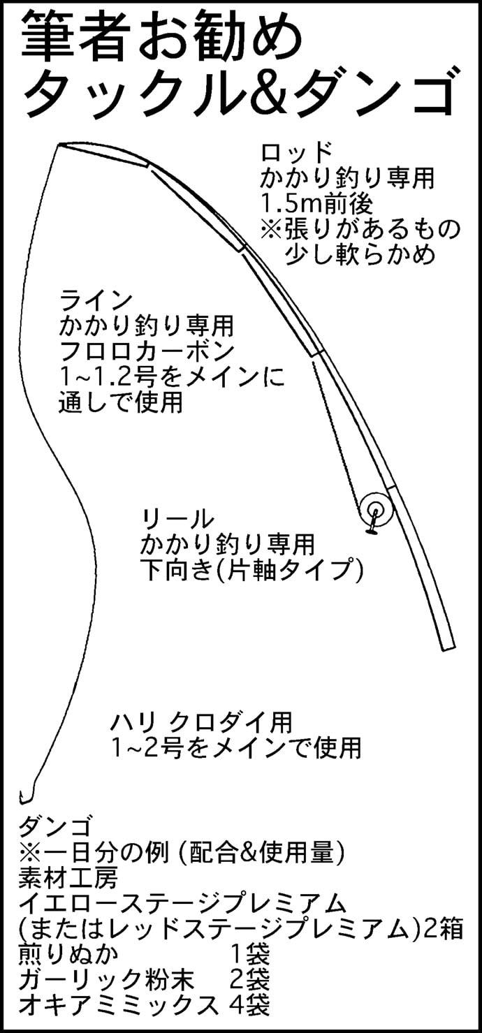 晩秋のクロダイ狙いカカリ釣りの組み立て方を解説 初心者入門の好機!
