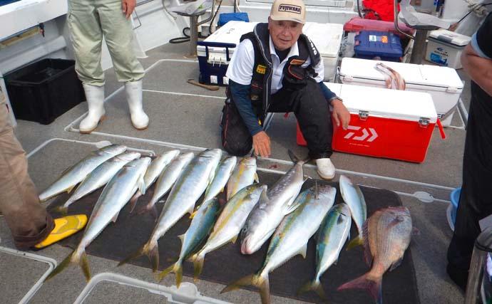 玄界灘『落とし込み』釣りで大型魚乱舞 6:4調子の竿が奏功【福岡】