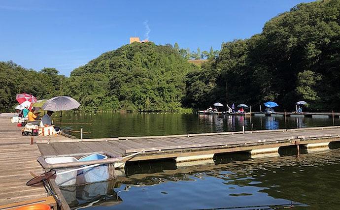 管理池でのヘラブナ釣りで30cm超え40尾【釣り堀センター菊水】