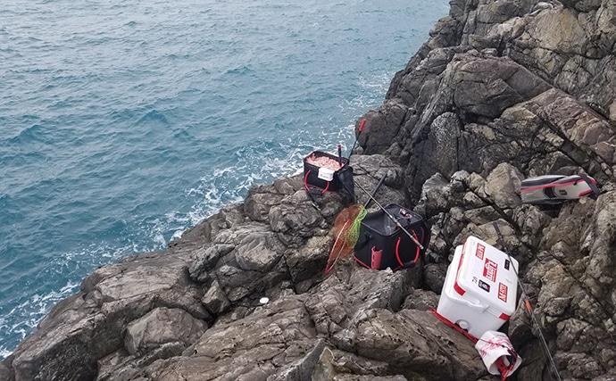秋の沖磯でフカセ釣り 状況に合わせた釣りでグレ数釣り【和歌山・串本】
