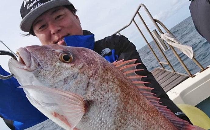 【福岡県】オフショアゲーム最新釣果 74cm頭にマダイ33尾!