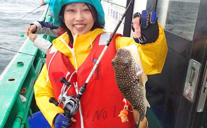 ショウサイフグ狙いのカットウ釣り 鹿島名物40cm超えも登場!