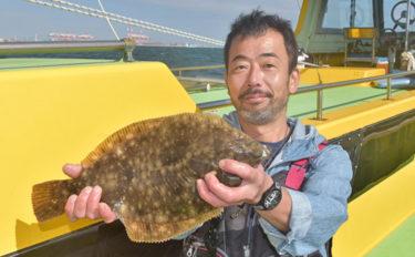 東京湾の味覚の王者『マコガレイ』を狙う 42cm頭に4尾【荒川屋】