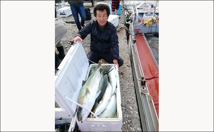 【玄界灘】落とし込み釣り最新釣果 超高級魚アラ5kgに大型青物乱舞