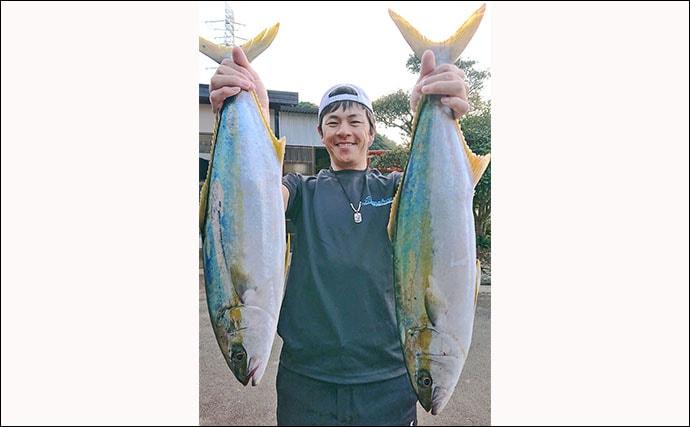 落とし込み釣りで本命ヒラマサ2匹キャッチ 強引を堪能!【寿風】