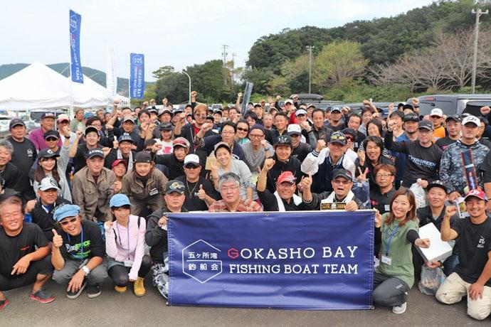 五ヶ所湾ボートエギング大会レポート 優勝者はアオリイカ3匹で3,035g!