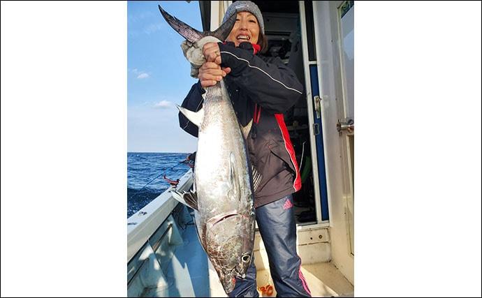 【響灘】落とし込み釣り最新釣果 8kgマダイに船中青物50尾など!