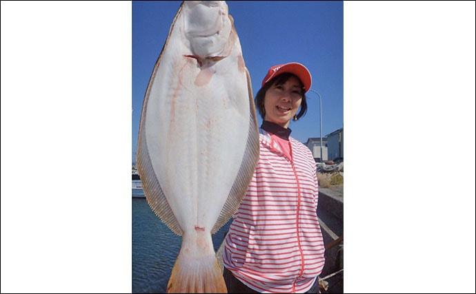 アジの泳がせ釣りで70cmヒラメ 丁寧なエサ付け心がけ【みくに丸】