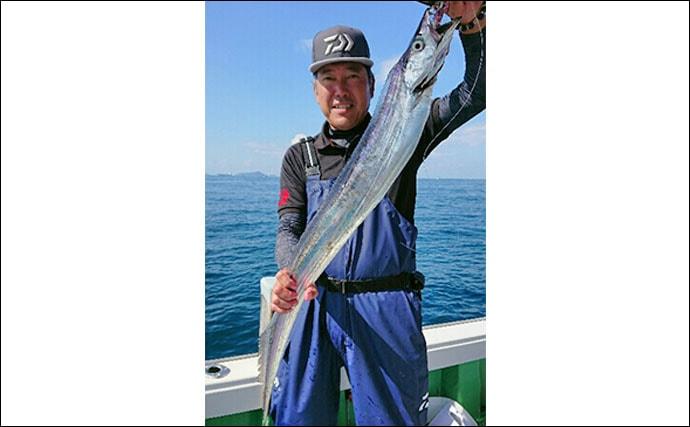 【大分県】沖釣り最新釣果 指6.5本ドラゴンタチウオに尺カワハギ!
