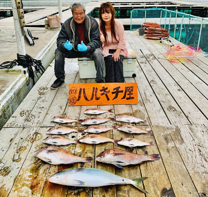 【三重県】海上釣り堀最新釣果 良型マダイ28匹に大ブリなど!