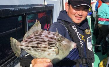 相模湾カワハギ釣りで船中トップ20尾 今後はサイズに期待【瀬戸丸】