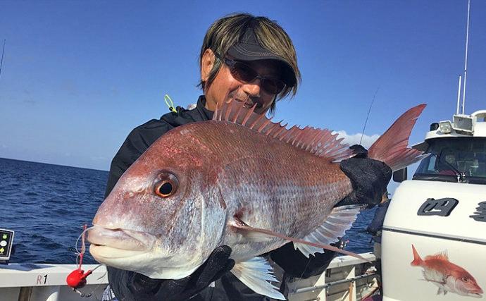 【福岡県】沖のエサ釣り最新釣果 ひとつテンヤ&五目釣りで多彩釣果