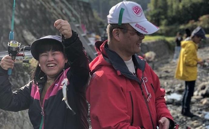 管理釣り場で釣り&BBQ 仲間と秋を満喫!【芥川マス釣り場】