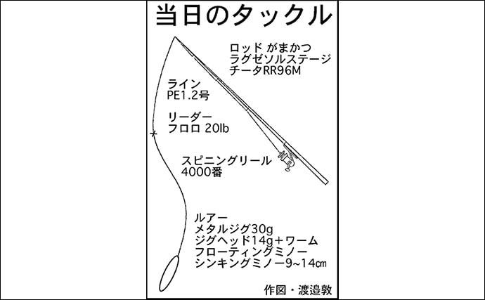 晩秋のサーフでショアジギング ナブラ撃ちで青物&ヒラメ【静岡県】