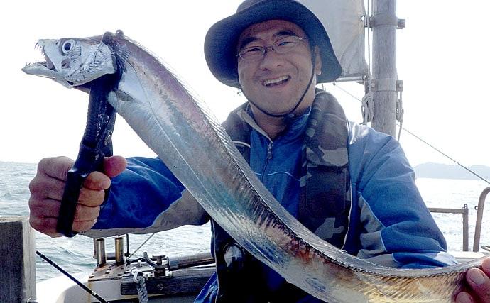 ドラゴンタチウオ狙いの6つのポイント実践で大型2尾手中【釣り船愛海】