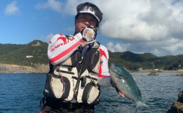 磯フカセ釣りで良型グレ好調 初挑戦女性が2日連続サオ頭【吉丸渡船】